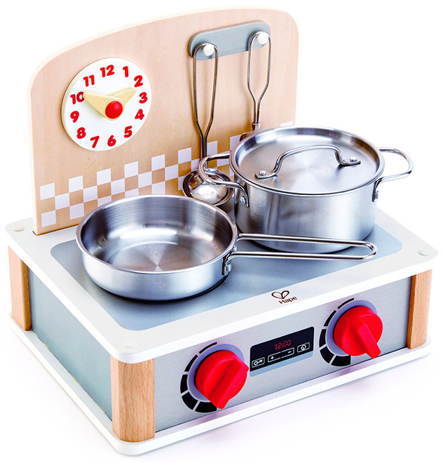 Hape 2 In 1 Kitchen And Grill Set Portable Cooktop Toy