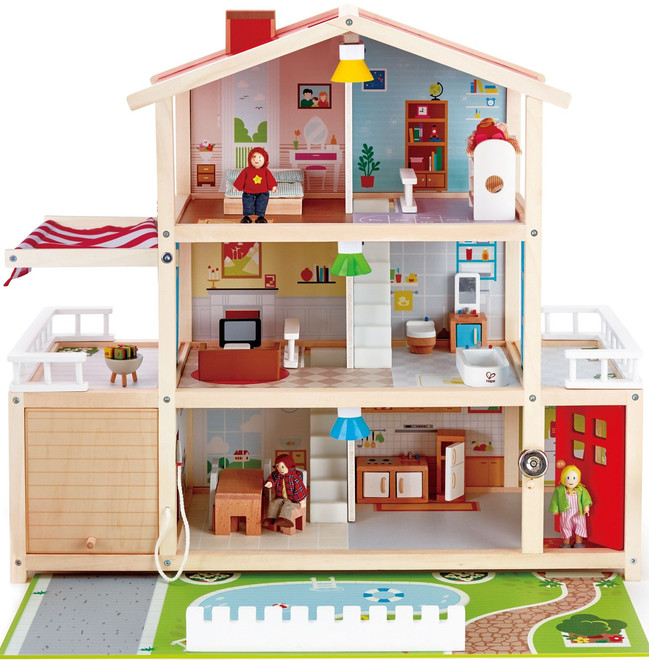 Superb Hape Doll Family Mansion Dollhouse
