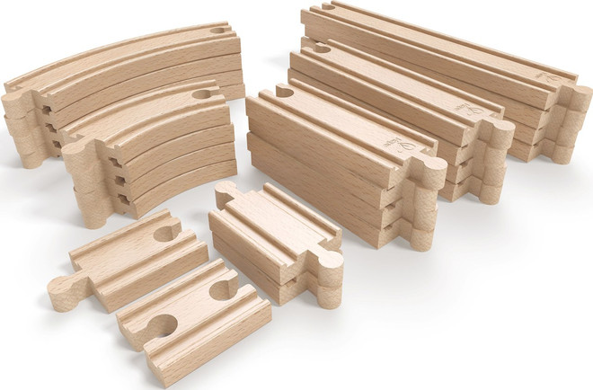 Hape Super Expansion Rail Pack On Sale Wooden Train Sets