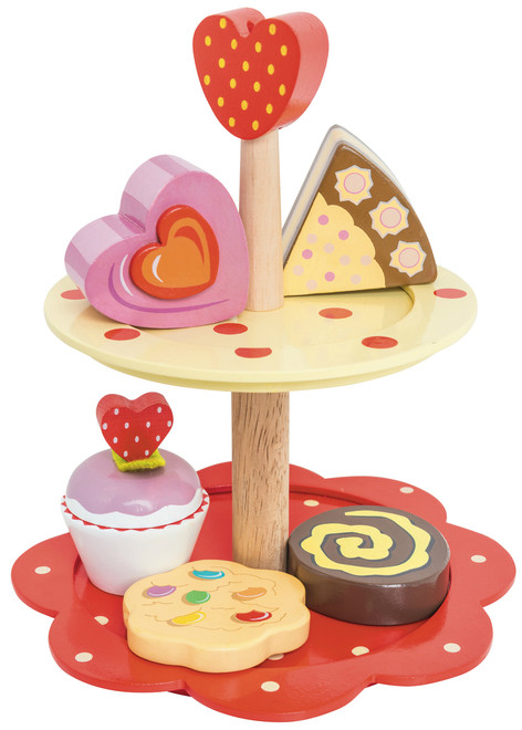Le Toy Van 2 Tier Cake Stand set