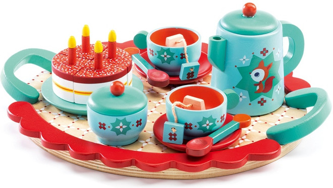 Fox's Wooden Tea Party Set