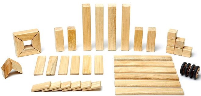 Tegu Magnetic Wooden Block - 42 Piece Natural Set