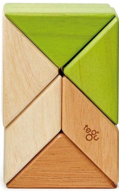 Tints 6 Piece F//S NEW Tegu Pocket Pouch Prism Magnetic Wooden Block Set