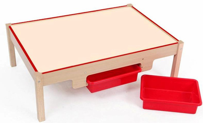 Mamagenius Wooden Play Table (With 2 Bins)