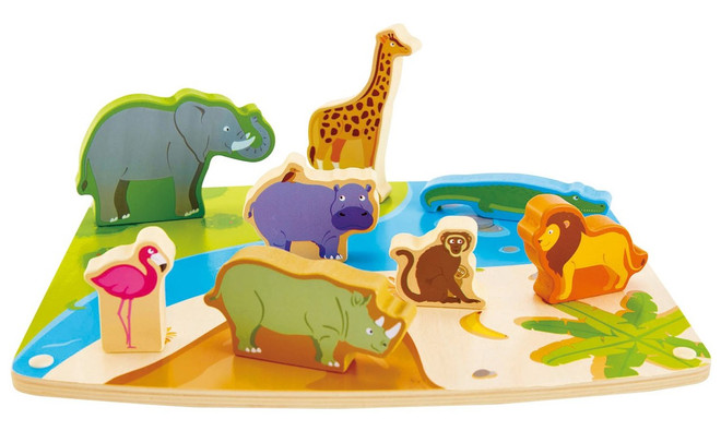 Wild Animal Puzzle And Play