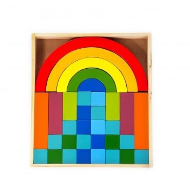 Qtoys Rainbow Building Blocks Set