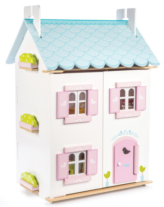 Le Toy Van Blue Bird Cottage Dollhouse Set