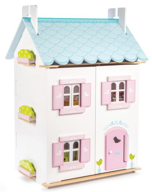 Le Toy Van Blue Bird Cottage Dollhouse Set