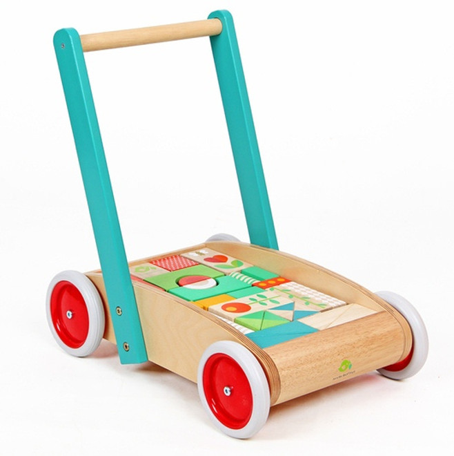 Tenderleaf Toys Wagon with Blocks Set
