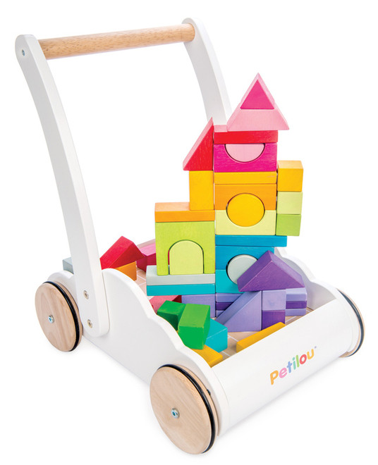 Tenderleaf Toys Rainbow Cloud Baby Walker with Blocks