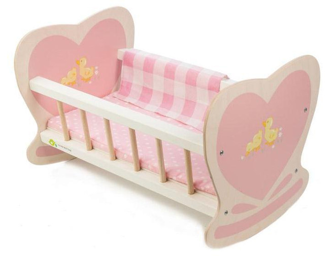 Tenderleaf Sweetie Pie Wooden Doll Cradle