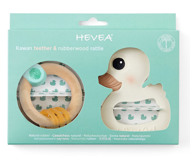 hevea natural baby teether gift set