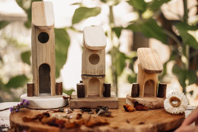 Qtoys Bamboo Fairy House