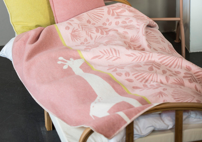 David Fussenegger Rouge Jungle Giraffe Juwel Cot Blanket