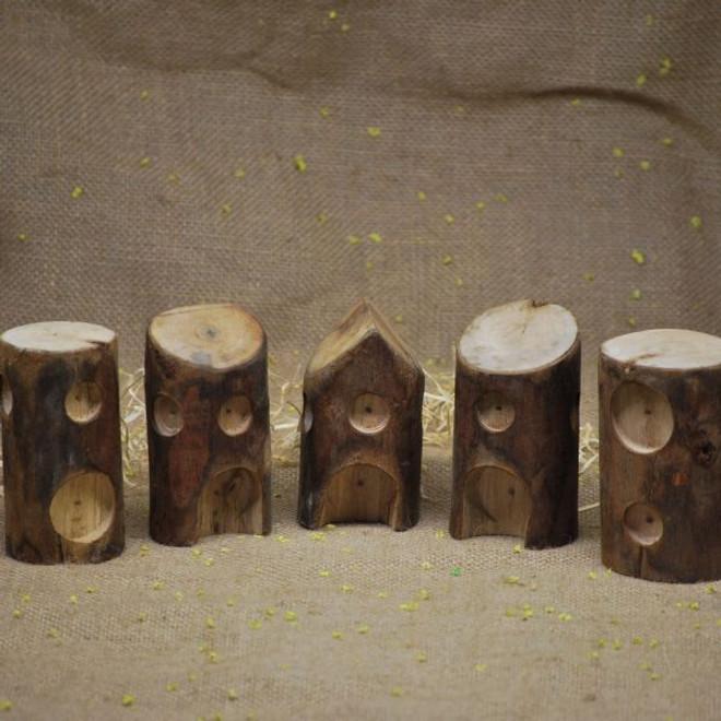 Qtoys Log Houses set of 5