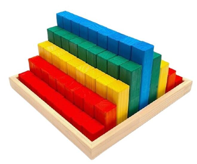Coloured Building Blocks - 81 Piece Set