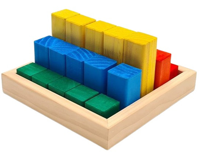 The Wooden Toy Co 25 Piece LSP Block Pyramid Set Coloured