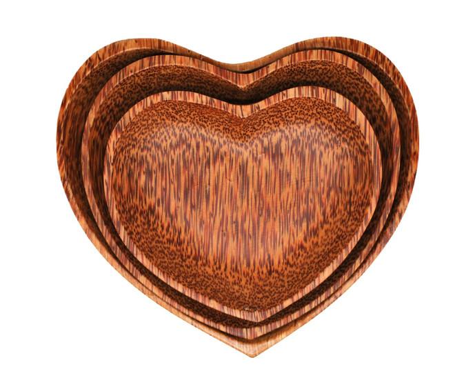 Qtoys Heart shape plate set 3pce