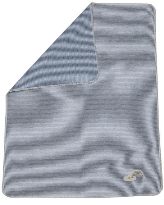 David Fussenegger Blue Stripes With Rainbow Embroidered Juwel