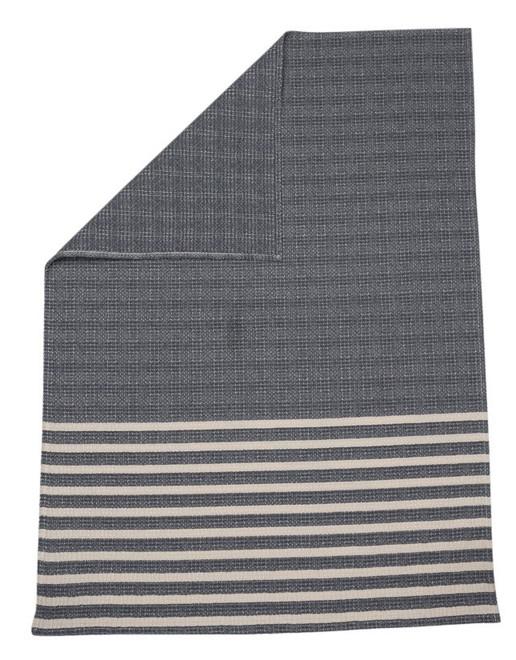 David Fussenegger Grey Stripes Mare Honeycomb Bassinet Blanket