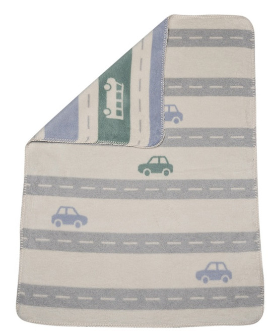 David Fussenegger Grey/ Off White Streets Mila Bassinet Blanket