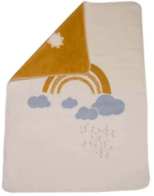 David Fussenegger Off White Rainbow Maja Bassinet Blanket