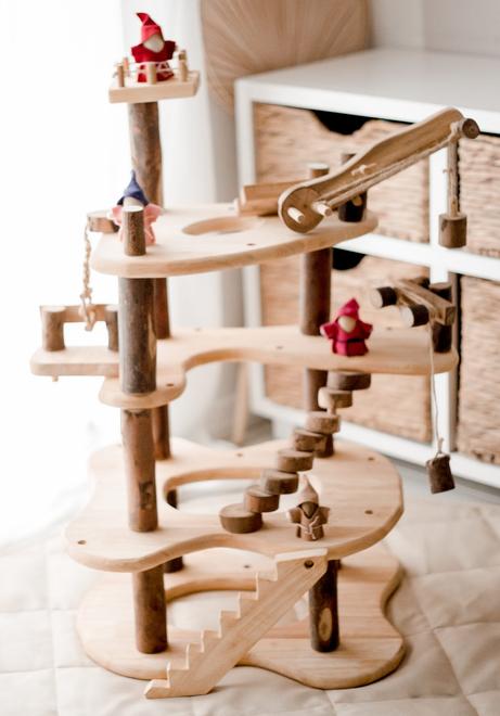three level tree house toy