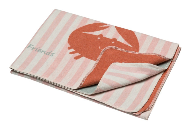 Rose Crab & Stripes Juwel Cot Blanket