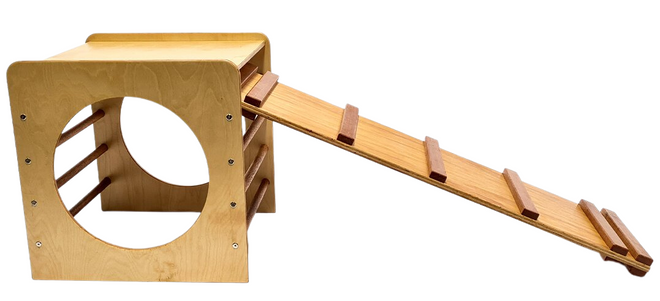 Outdoor Climbing Cube and Slide Set