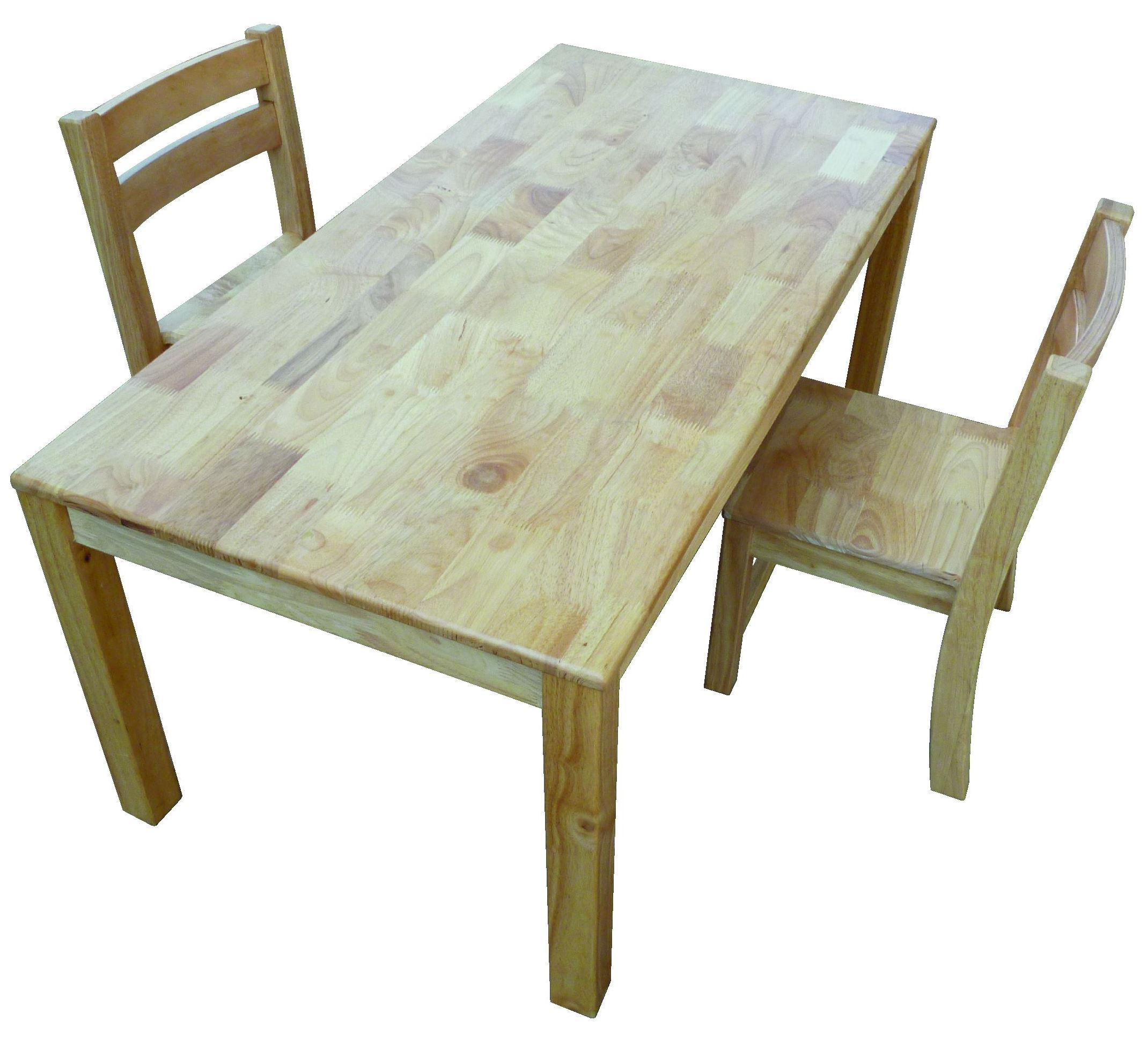 Qtoys Natural Rectangle Wooden Kids Table Chairs
