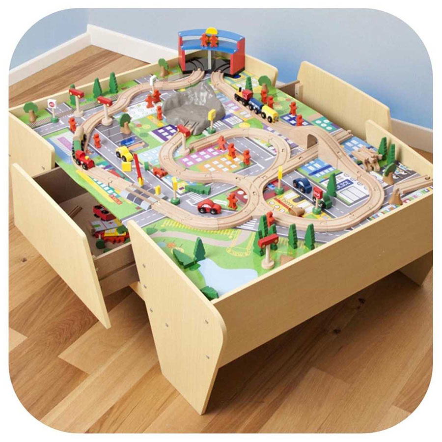 Plum Train And Track Activity Table Fast Shipping Australia Wide