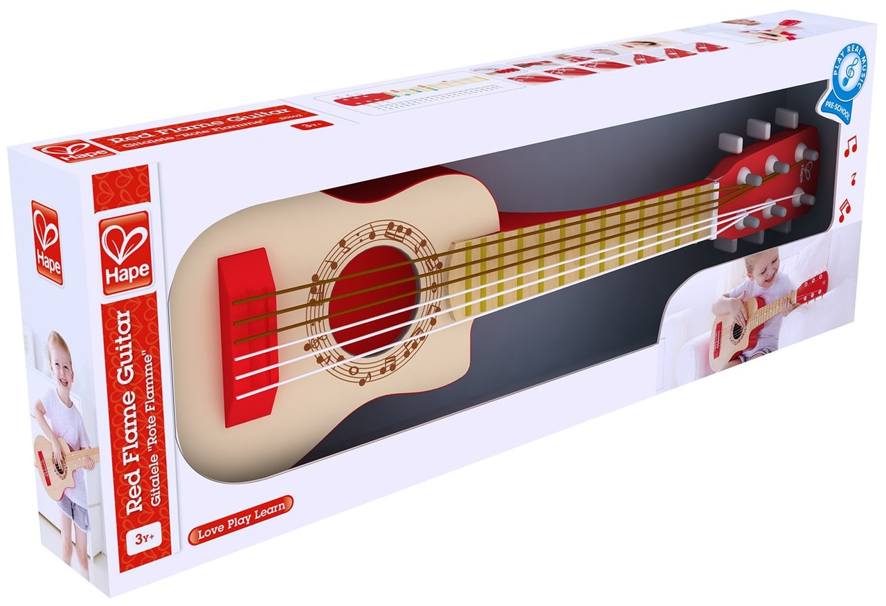 Hape Red Flame Guitar On Sale