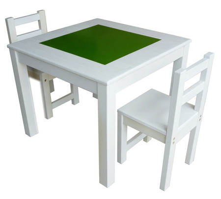 Qtoys White Chalkboard Table Amp Chair Set For Kids On Sale