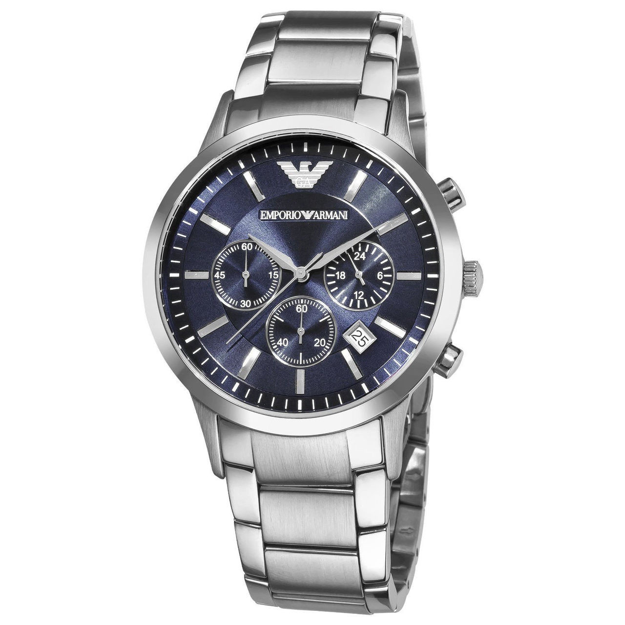 031c4fc757cf Emporio Armani AR2448 Classic Chronograph Blue Dial Stainless Steel Mens  Watch - The Royal Gift Inc.