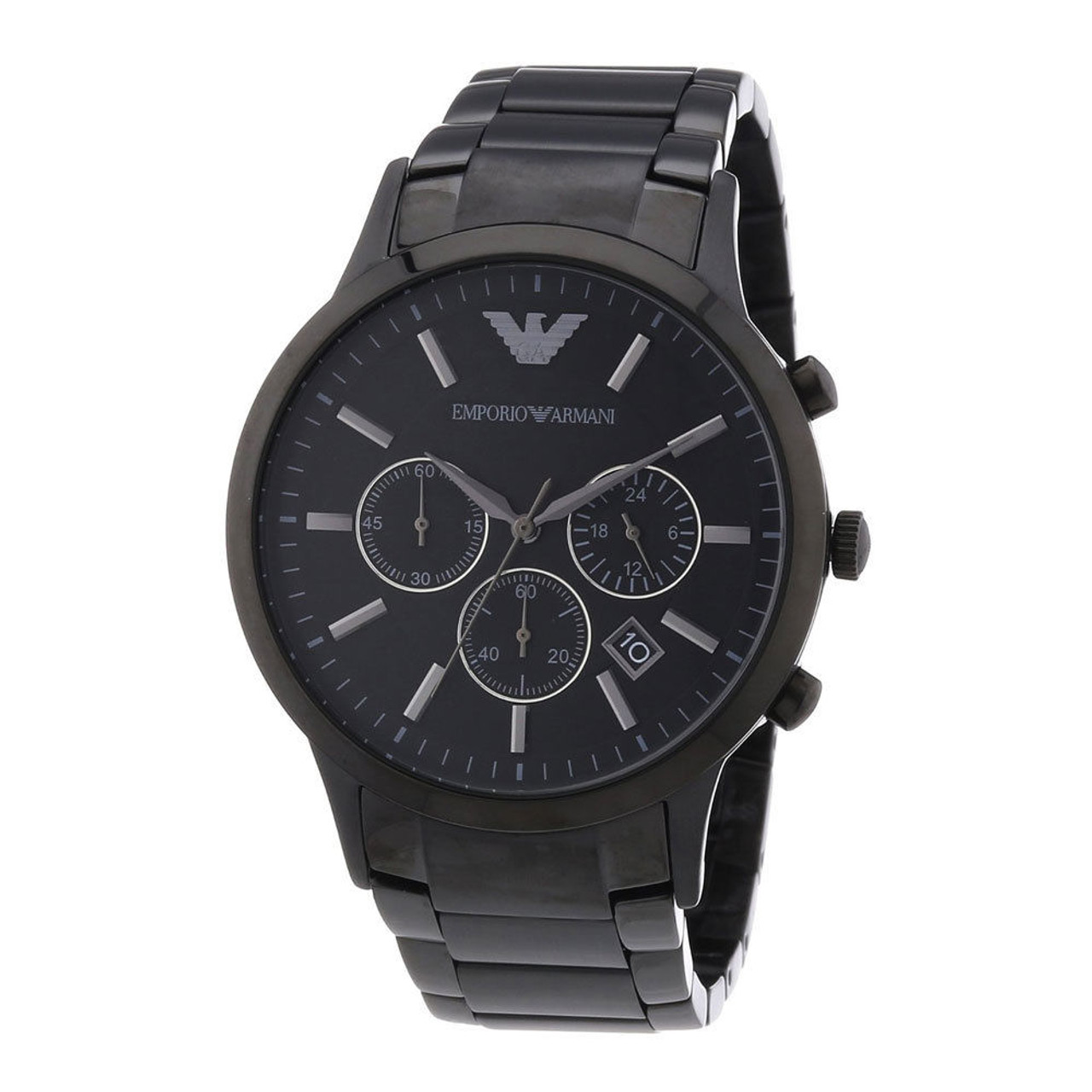 145e0d6102e1 Emporio Armani AR2453 Classic Chronograph Black Stainless Steel Mens Watch  - The Royal Gift Inc.