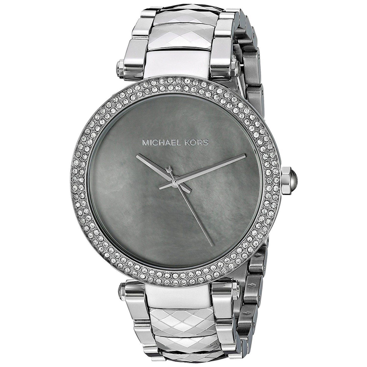 35b04dc40865 Michael Kors MK6424 Parker Chronograph MOP Crystal Stainless Steel Womens  Watch - The Royal Gift Inc.