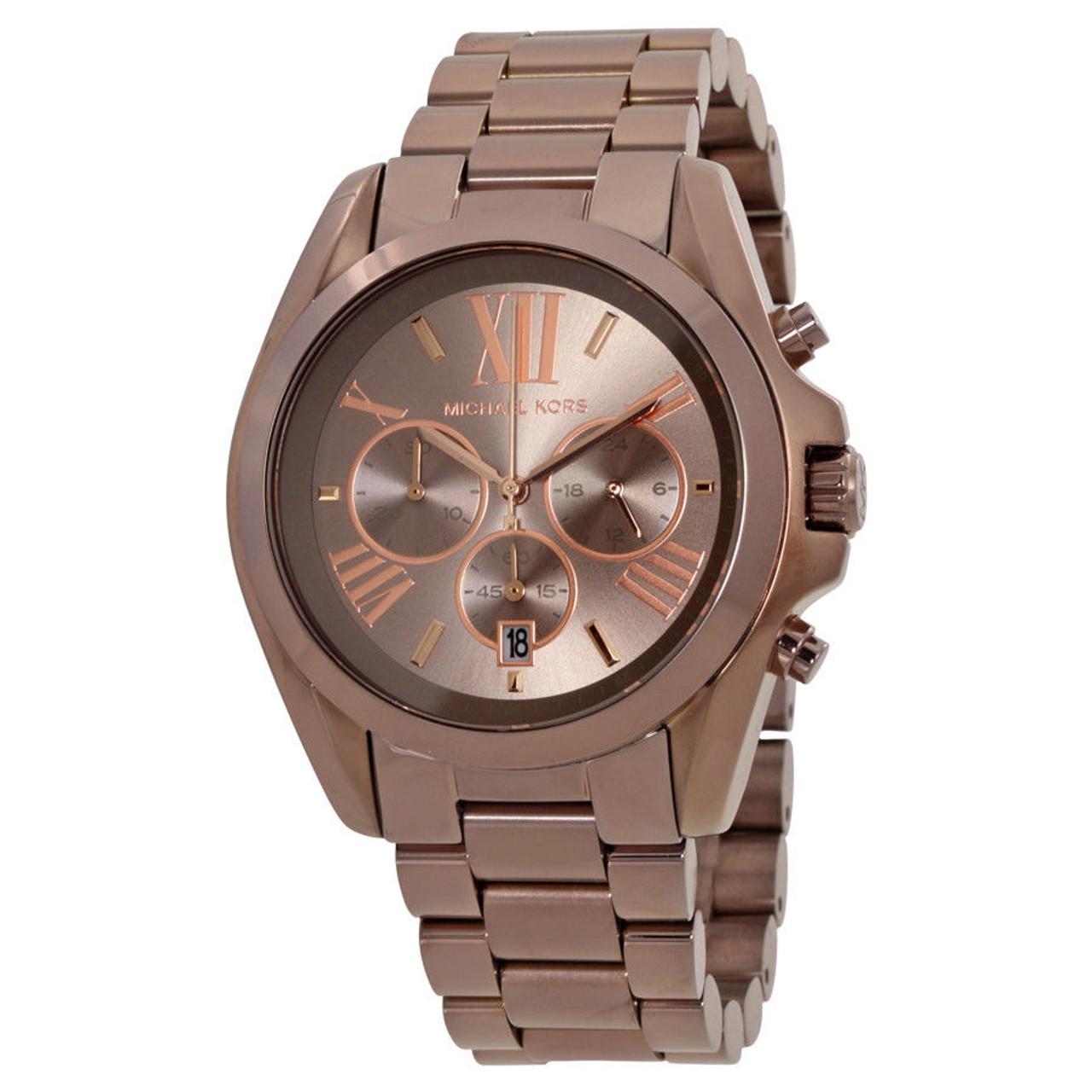 11801cc07460 Michael Kors MK6247 Bradshaw Chronograph Brown Stainless Steel Unisex Watch  - The Royal Gift Inc.
