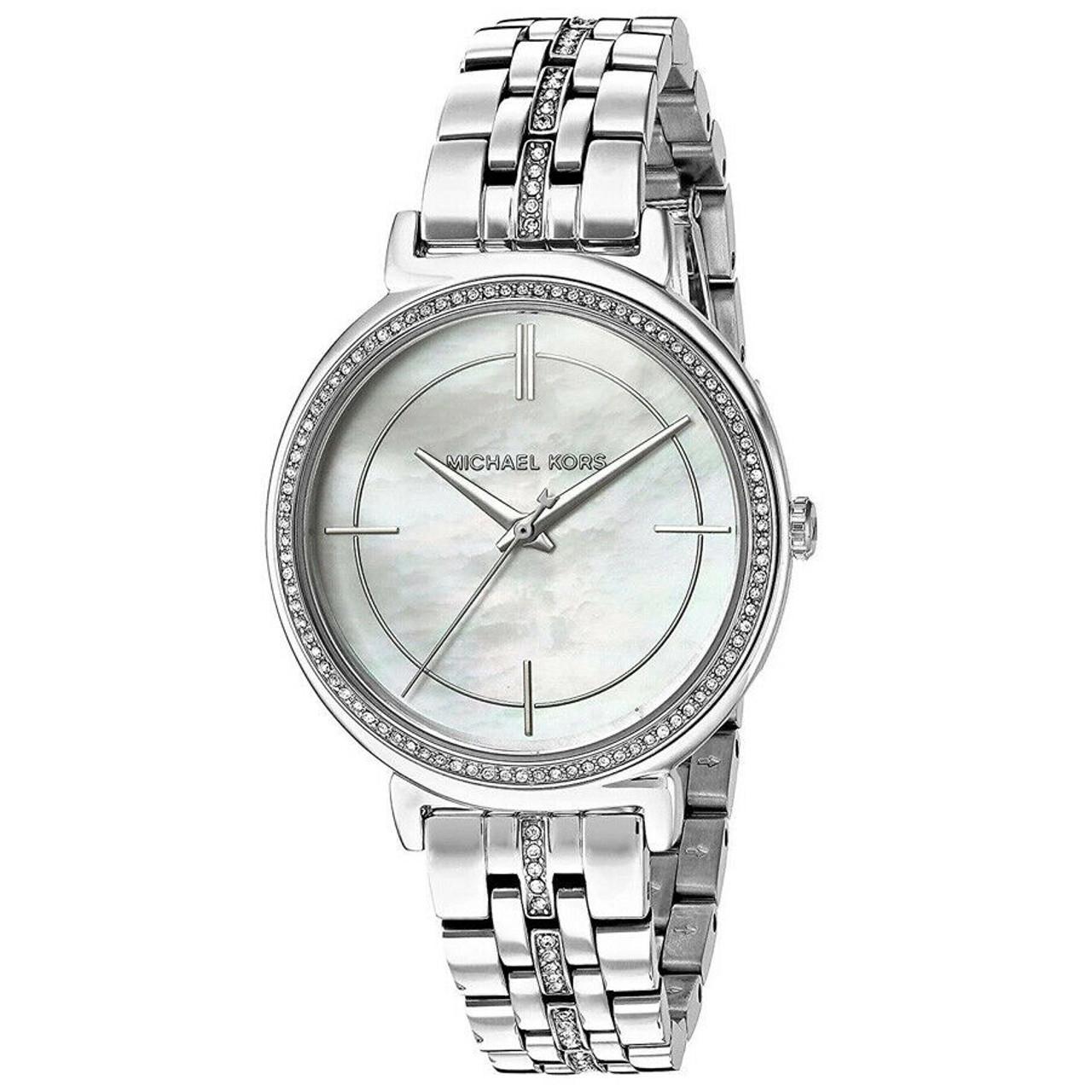 Michael Kors MK3641 Cinthia MOP Crystal Stainless Steel Womens Watch