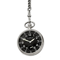 Chisel Black Dial Mechanical Mens Pocket Watch TPW88