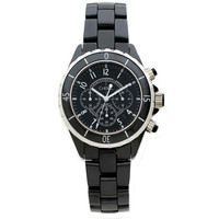 Chisel Black Dial Chronograph with Date Ceramic Mens Watch TPW5