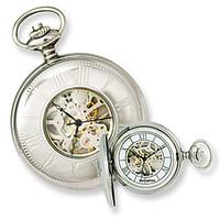 Swingtime Engravable Stainless Steel Mechanical Mens Pocket Watch XWA2781