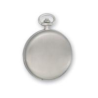 Swingtime Engravable Chrome Brass Mechanical Mens Pocket Watch