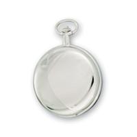 Swingtime Engravable Chrome Brass Mechanical Pocket Watch