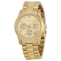 Michael Kors MK5055 Runway Goldtone Stainless Steel Chronograph Unisex Watch