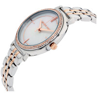 Michael Kors MK3831 Cinthia Two-Tone Stainless Steel MOP Crystal Womens Watch
