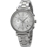 Michael Kors MK6575 Sofie Crystal Stainless Steel Chronograph Womens Watch