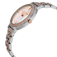 Michael Kors MK3831 Cinthia Two Tone Stainless Steel MOP Crystal Womens Watch