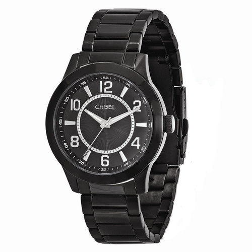 Chisel Quartz Black IP-Plated Stainless Steel Mens Watch TPW91