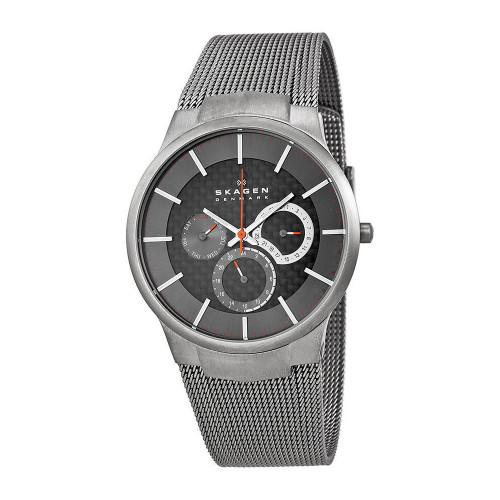 Skagen 809XLTTM Titanium Multifunction Stainless Steel Mens Watch