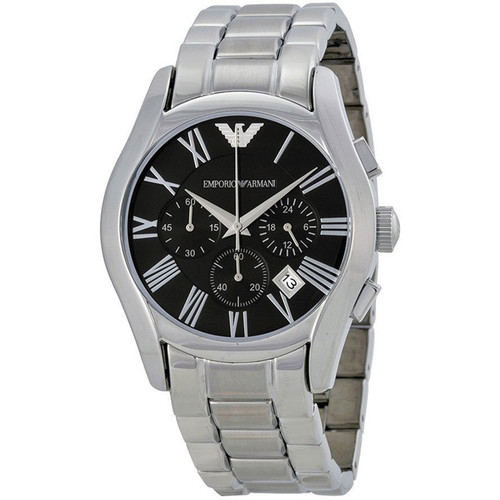 Emporio Armani AR0673 Classic Chronograph Black Dial Stainless Steel Mens Watch